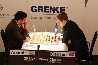 Vishy Anand and Magnus Carlsen were playing in the Grenke Classic in Germany while we played in Kidlington.