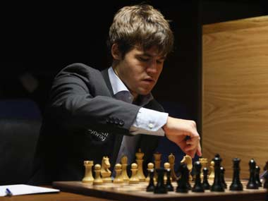 The new World Champion, Magnus Carlsen: not playing at Kidlington