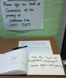 Lugradio book of condolence