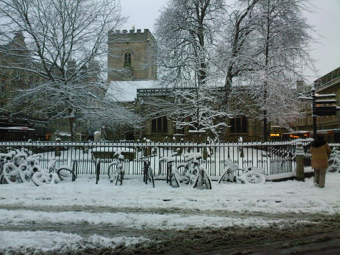 St Giles in the snow